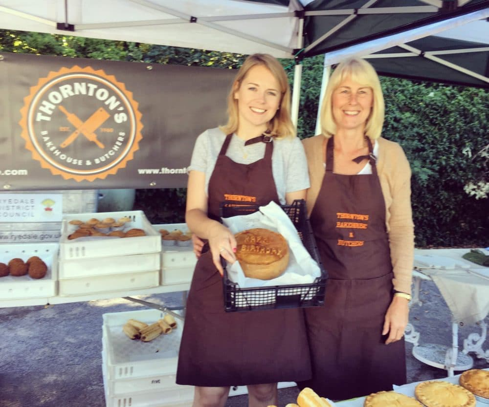 Katie from Thornton's Bakehouse and Butchers at Ampleforth Village Market
