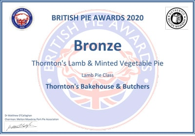 British Pie Awards - Bronze Award