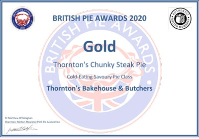 British Pie Awards - Gold Award