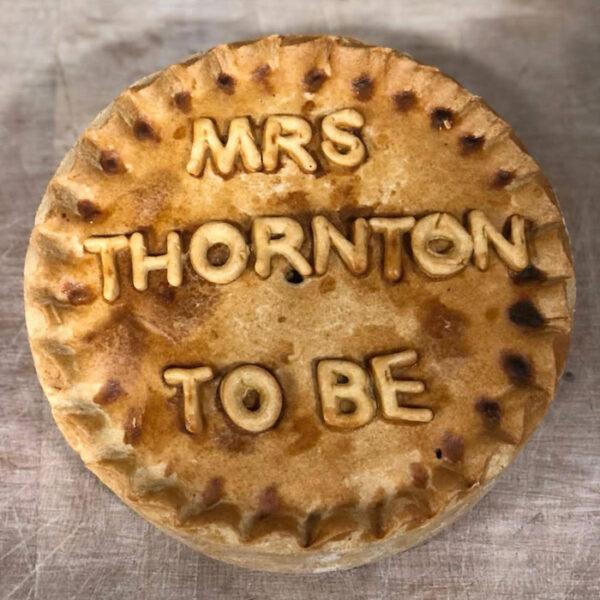 Thornton's Bakehouse Personalised Pork Pies