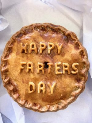 Thornton's Bakehouse and Butchers Happy Fathers Day bespoke pork pie